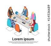 business people meeting... | Shutterstock .eps vector #414536689