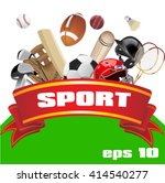 set of sport equipment. sport... | Shutterstock .eps vector #414540277