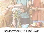 friendship togetherness food... | Shutterstock . vector #414540634