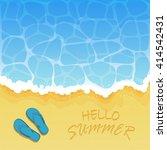 ocean wave on a sandy beach... | Shutterstock .eps vector #414542431