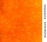 Grungy Hearts Texture On Orange ...