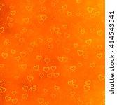 Grungy Hearts Texture On Orange ...