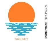 sunset on a white background.... | Shutterstock .eps vector #414543871