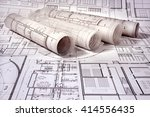 architectural project | Shutterstock . vector #414556435
