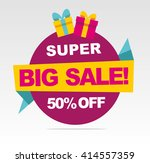 super  big sale banner. vector... | Shutterstock .eps vector #414557359