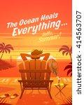 the ocean heals everything.... | Shutterstock .eps vector #414563707