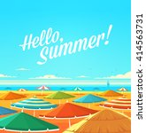 hello  summer  summertime quote.... | Shutterstock .eps vector #414563731