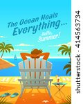 the ocean heals everything.... | Shutterstock .eps vector #414563734