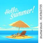 hello  summer  summertime quote.... | Shutterstock .eps vector #414563755