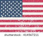 grunge usa flag. american flag... | Shutterstock .eps vector #414567211