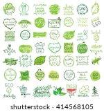 vector vegan  natural and eco... | Shutterstock .eps vector #414568105