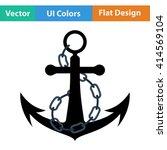 flat design icon of sea anchor...