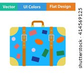 flat design icon of suitcase ...