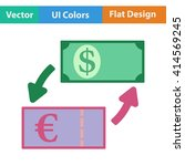 flat design icon of currency...