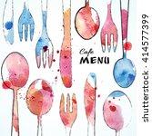 cafe menu card design template. ...   Shutterstock .eps vector #414577399