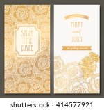 Golden Flowers Card Design....