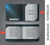 brochure template with abstract ... | Shutterstock .eps vector #414582235