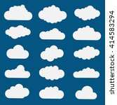 collection of cloud icons | Shutterstock .eps vector #414583294
