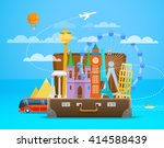 vacation travelling composition ... | Shutterstock .eps vector #414588439
