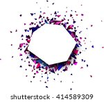 white abstract background with... | Shutterstock .eps vector #414589309