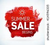 red paint artistic dry brush... | Shutterstock .eps vector #414596335