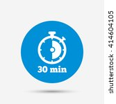 timer sign icon. 30 minutes... | Shutterstock .eps vector #414604105