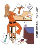 fashion designer   Shutterstock . vector #414609