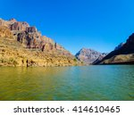 rocky mountain and river in... | Shutterstock . vector #414610465