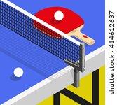 isometric ping pong still life...   Shutterstock .eps vector #414612637