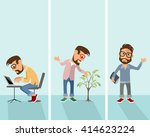 vector illustration of a three... | Shutterstock .eps vector #414623224