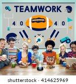 league sport fitness exercise... | Shutterstock . vector #414625969