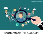 vector research people concept... | Shutterstock .eps vector #414630034