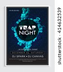 trap night party template ... | Shutterstock .eps vector #414632539