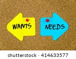 message wants versus needs on... | Shutterstock . vector #414633577