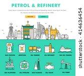 modern petrol industry thin... | Shutterstock .eps vector #414636454