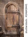Ancient Wooden Door In Stone...