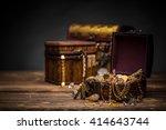 Wooden Jewellery Box Still Lif...