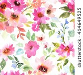 watercolor floral pattern.... | Shutterstock . vector #414649525