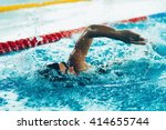 Freestyle Swimming Competitor...
