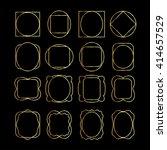 set of blank golden frames. | Shutterstock .eps vector #414657529
