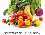 fresh fruits and vegetables | Shutterstock . vector #414660469