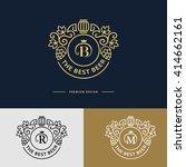 line graphics monogram. logo...   Shutterstock .eps vector #414662161