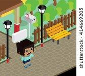 cartoon life isometric | Shutterstock .eps vector #414669205