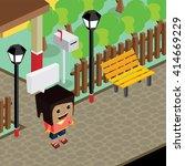 cartoon life isometric | Shutterstock .eps vector #414669229