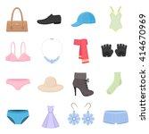 clothing icons set. clothing...