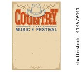 country music festival poster... | Shutterstock .eps vector #414679441