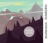 autumn picturesque mountain... | Shutterstock . vector #414681841