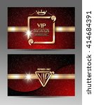 red and gold vip invitation... | Shutterstock .eps vector #414684391