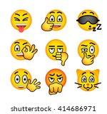 emoji emoticons. smiley face... | Shutterstock .eps vector #414686971