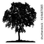 tree silhouette on white... | Shutterstock .eps vector #414687085